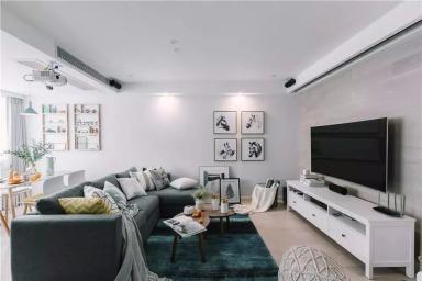 120㎡北欧复式,柔和优雅,气质斐然,客厅墨绿色地毯最受邻居捧场!