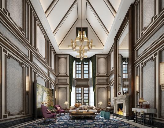 美式別墅客廳
