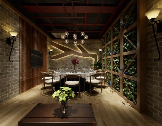 中式餐厅包间