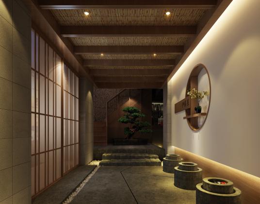 日式酒店过道