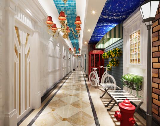 欧式酒店走廊