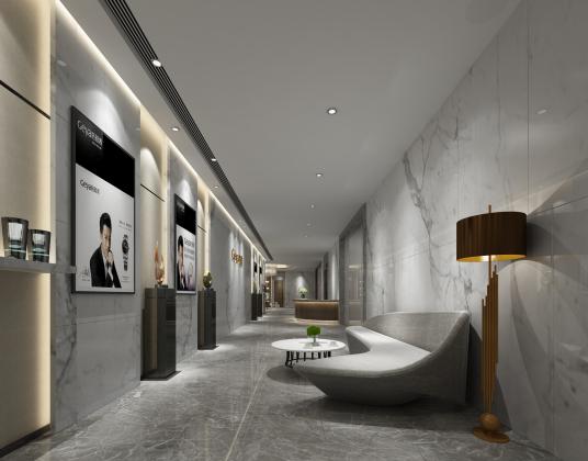 现代酒店走廊