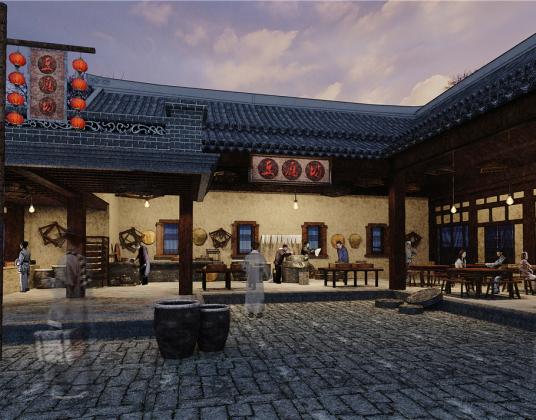 中式餐饮店