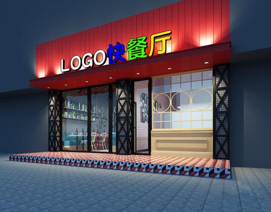 工业风快餐厅