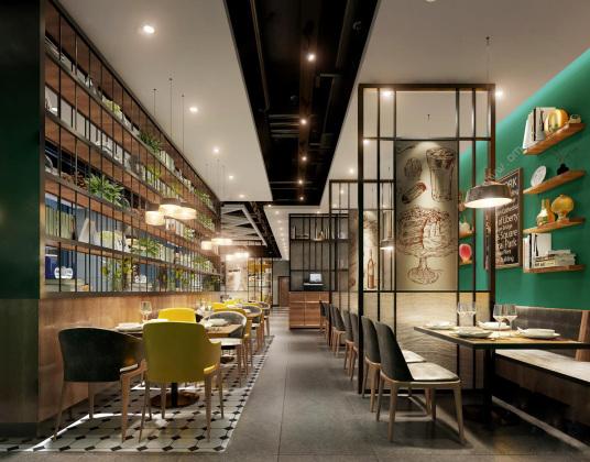 工业风牛排西餐厅