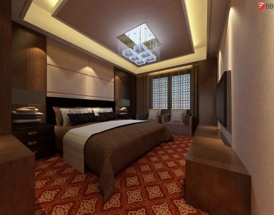 某中式酒店客房