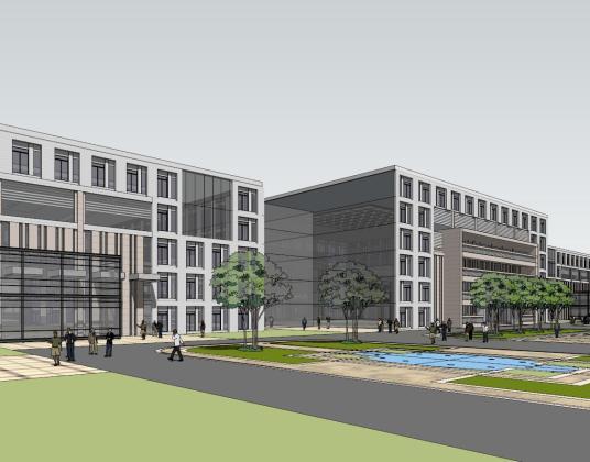 哈南国际开发开放总部大厦