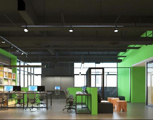 现代风格办公区