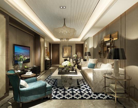 后现代风格客厅