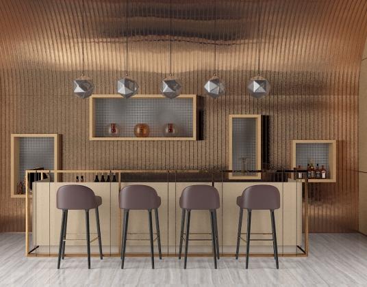 现代餐厅吧台