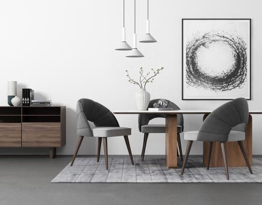 北歐簡約餐桌椅組合