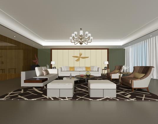后现代沙发茶几组合