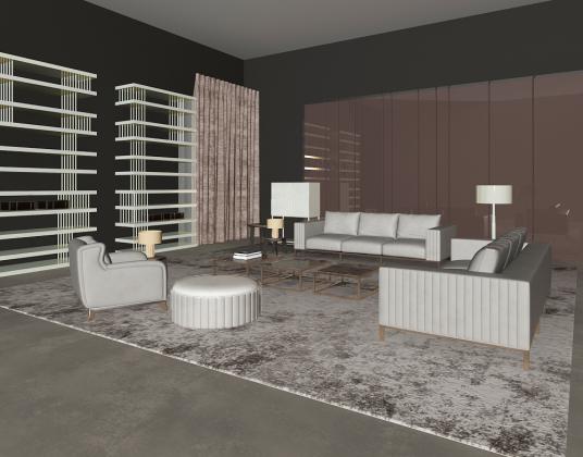现代客厅沙发椅组合