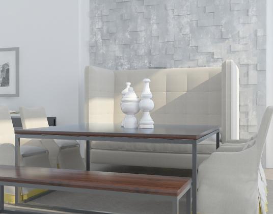 现代美式沙发桌椅组合