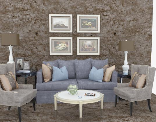 现代新古典沙发椅子茶几组合