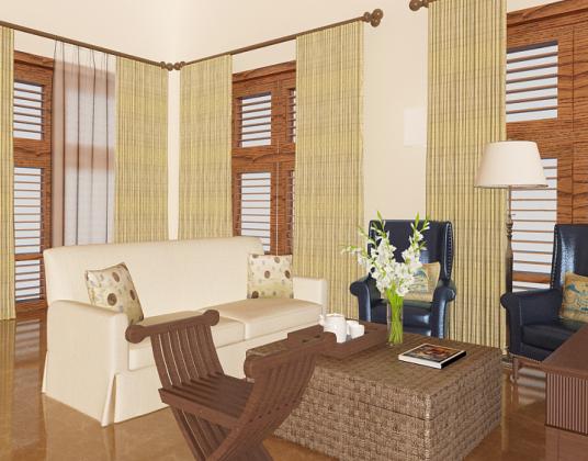 美式乡村客厅沙发椅子组合模型