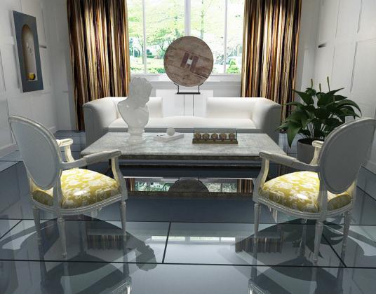 后现代新古典沙发椅子组合