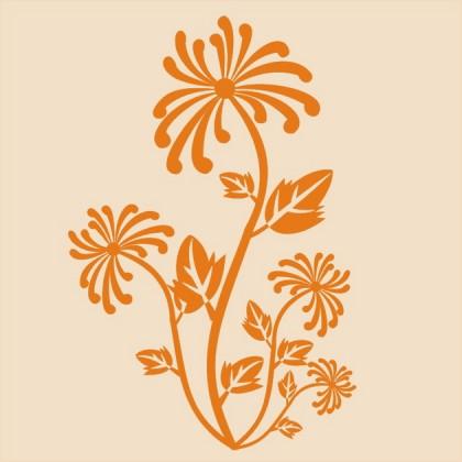 田园植物图案壁纸