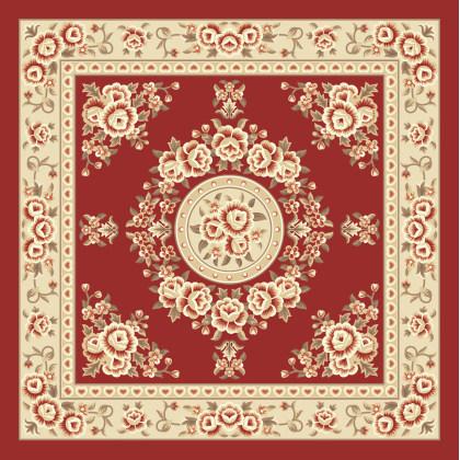 古典植物圖案地毯