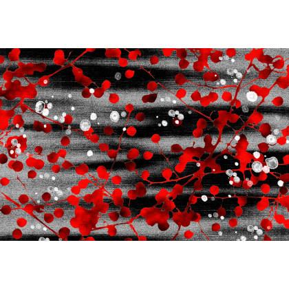 現代植物圖案方形地毯