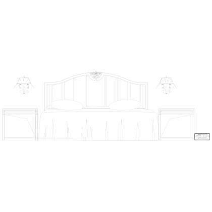 装饰图例-床