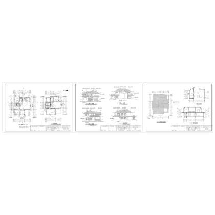 兩層別墅-14.10&18.60米-施工圖