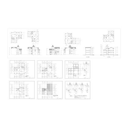 一套别墅建筑图