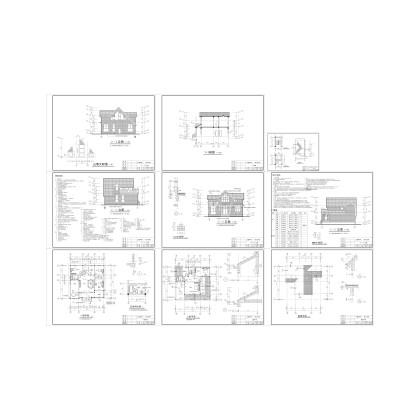 二層獨棟別墅239平方米施工圖