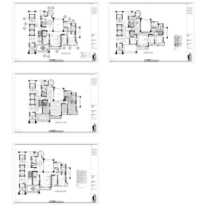 梁志天——深圳香蜜湖示範單位-B2型样板间施工图