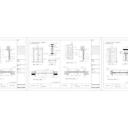 梁志天——蘇州水巷鄰裏C1型单位样板房(施工图)