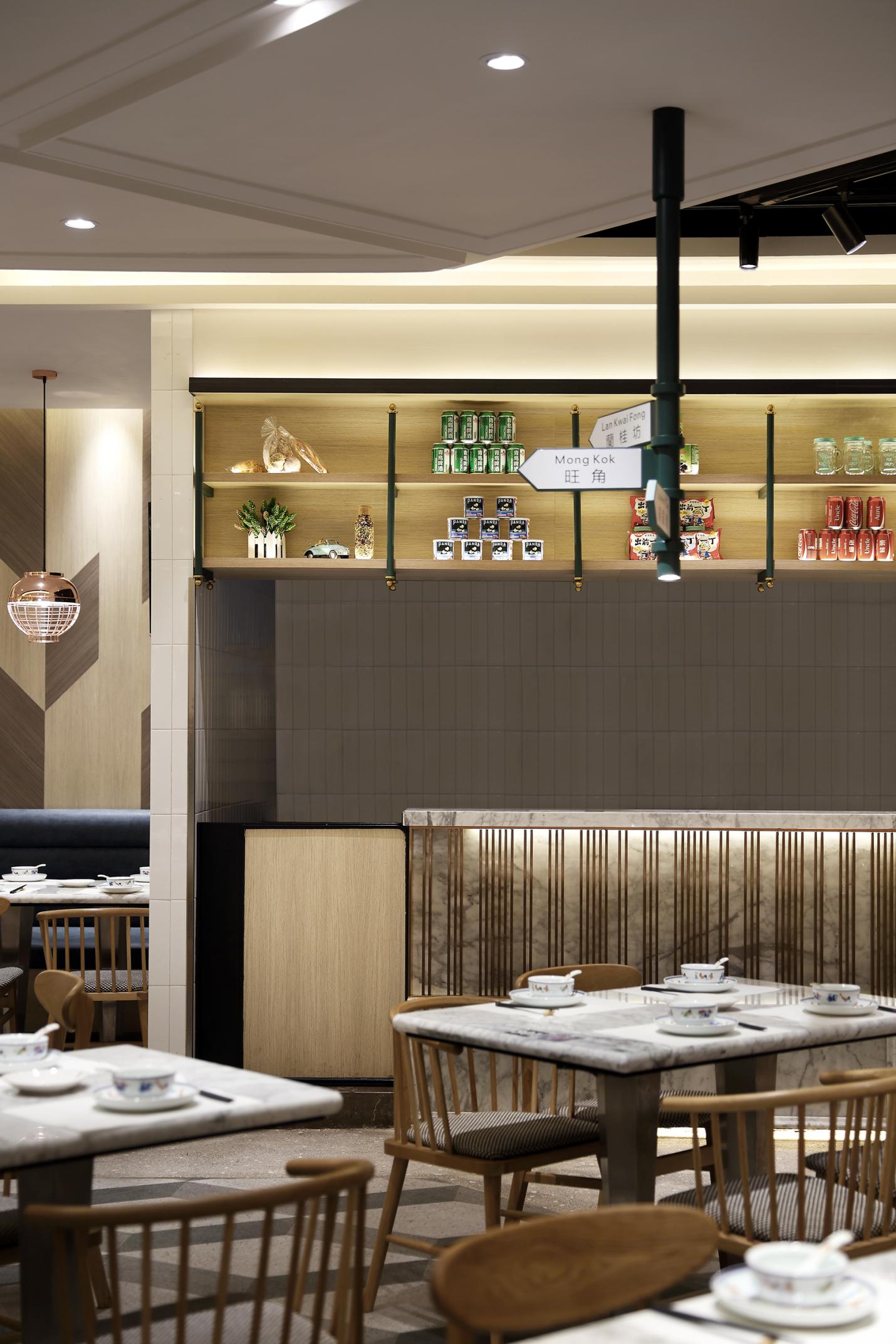"""餐厅空间设计""""艺鼎新作""""当香港茶餐厅遇上时尚简约风"""