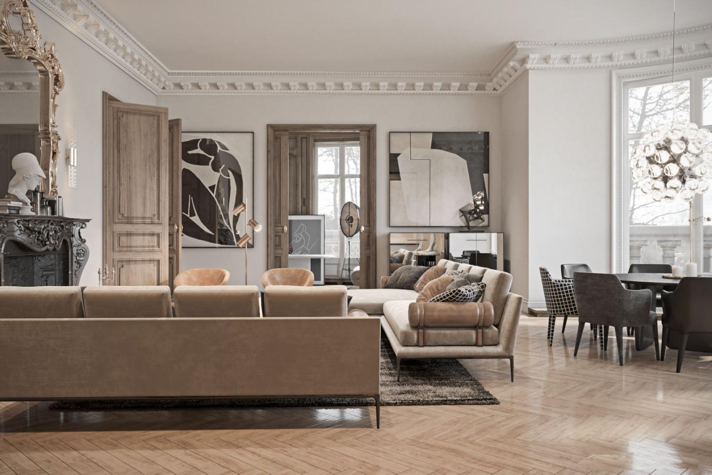 欧式精品公寓设计,简约