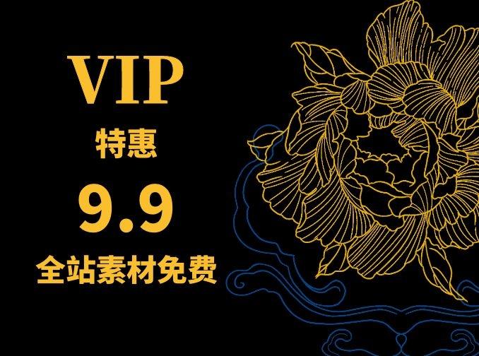 VIP年会员仅需9.9 全站素材免费